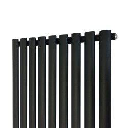 Queen Black Designer Radiator - 630 x 1800mm - Closeup