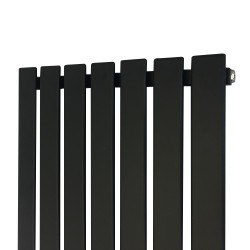 King Black Designer Radiator - 516 x 1250mm - Closeup