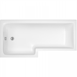 Square Shower Bath Left Handed 1600mm x 705/855mm