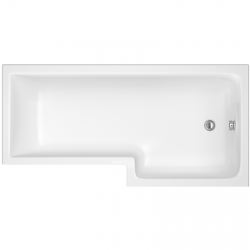 Square Shower Bath Right Handed 1500mm x 705/855mm