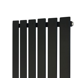 King Black Designer Radiator - 440 x 1850mm - Closeup