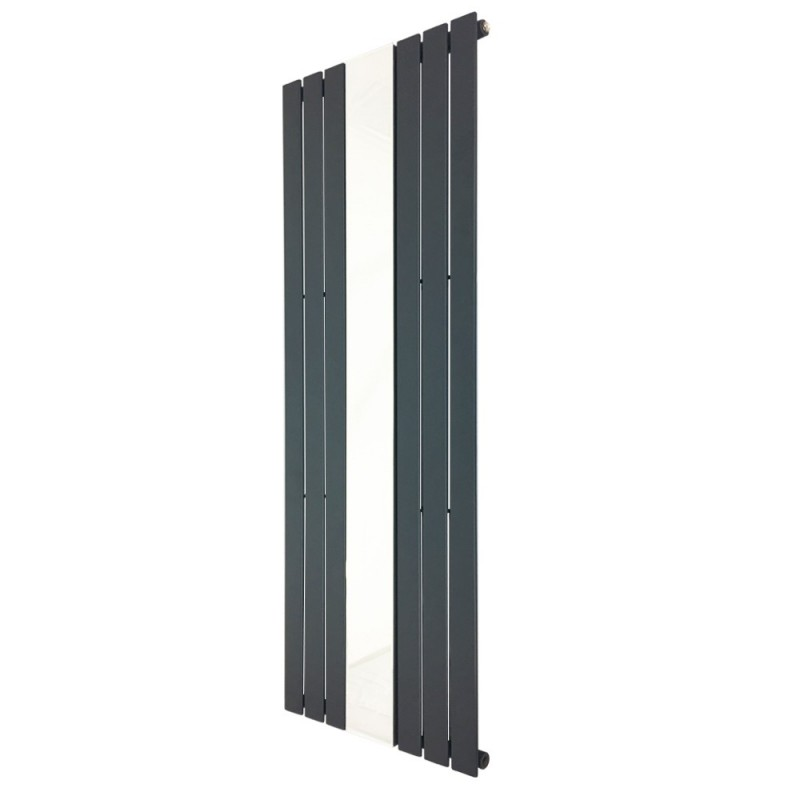 King Anthracite Mirror Designer Radiator - 610 x 1800mm