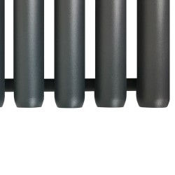 Cleopatra Anthracite Designer Radiator - 472 x 1800mm - Closeup of Bottom