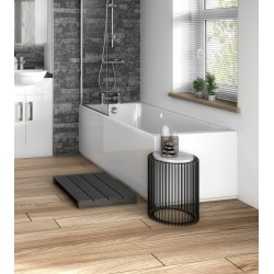 Gloss White 1700mm Bath Front Panel with Plinth