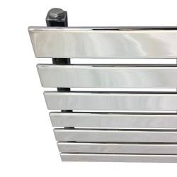 King Chrome Designer Radiator - 1250 x 516mm - Closeup