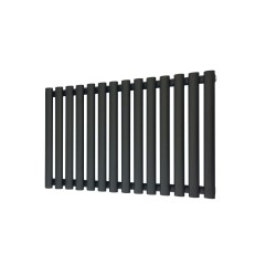 Queen Black Designer Radiator - 960 x 500mm