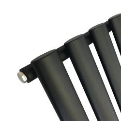 Queen Black Designer Radiator - 960 x 500mm - Closeup