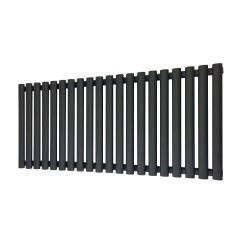 Queen Black Designer Radiator - 1380 x 500mm