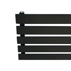 King Black Designer Radiator - 1850 x 360mm - Closeup