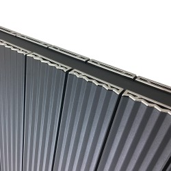 Supreme Anthracite Aluminium Radiator - 1500 x 500mm - Closeup