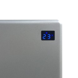 Nova Live R Silver Electric Panel Heater Display
