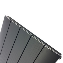 Supreme Anthracite Aluminium Radiator - 470 x 1800mm - Closeup