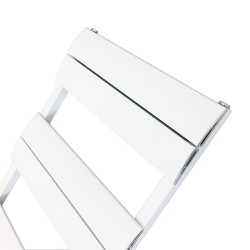 Regent White Designer Towel Rail - 500 x 1000mm - Closeup