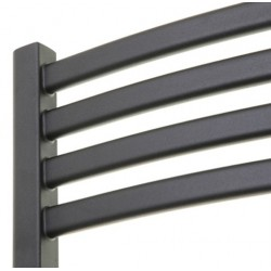 Emperor Black Designer Towel Rail - 500 x 1100mm - Closeup