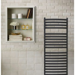 Emperor Black Designer Towel Rail - 500 x 1100mm - Insitu
