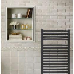 Emperor Black Designer Towel Rail - 600 x 800mm - Insitu