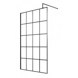 1200mm Framed Wetroom Screen with Support Bar
