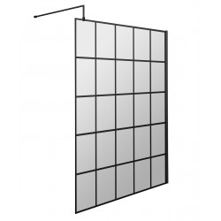 1400mm Framed Wetroom Screen with Support Bar