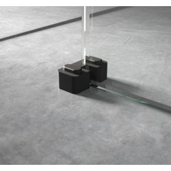 Black Wetroom Screen Retainer Support Foot