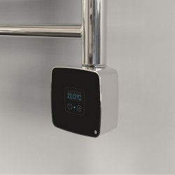 Rica Stone Black/Chrome Thermostatic Element with Bluetooth Connectivity