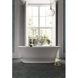 Faringdon 1555mm Traditional Freestanding Bath with Overflow and Waste