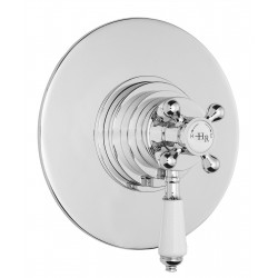 Topaz White Dual Concealed Shower Valve