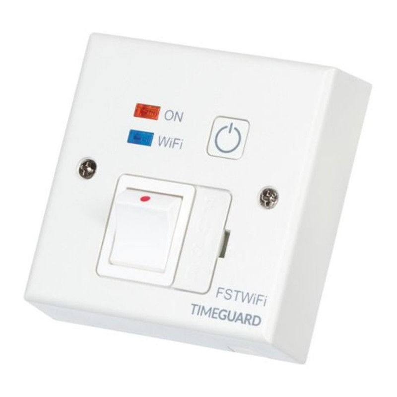 White WIFI Controlled Fused Spur Timer - FSTWIFI