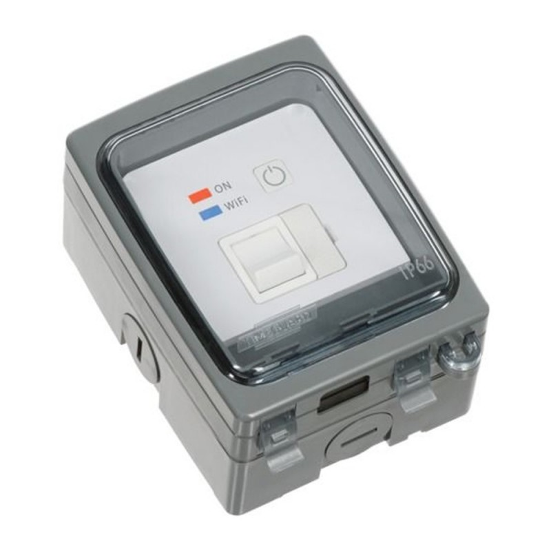 White WIFI Switched Fused Spur Timer with Outdoor IP66 Weathersafe Surround - FSTWIFITGV