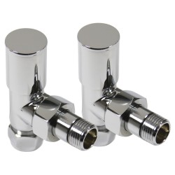 Chrome Manual Angled Radiator Valves