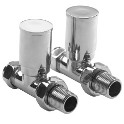 Chrome Manual Straight Radiator Valves