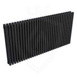 Ultraheat Klon Designer Black Double Radiator - 1219 x 600mm