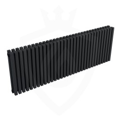 Ultraheat Klon Designer Black Double Radiator - 1219 x 420mm