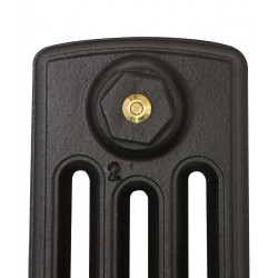 Neo Georgian 4 Column Cast Iron Radiator - 360mm High - Profile View
