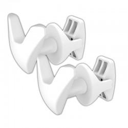 White Robe Hook - V Design