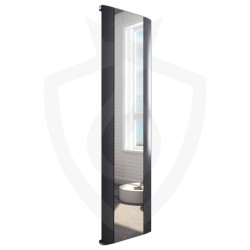 Supreme Anthracite Aluminium Mirror Radiator - 470 x 1700mm
