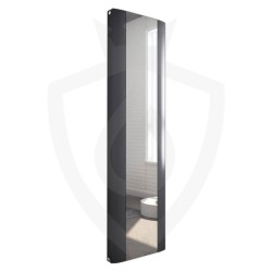 Supreme Anthracite Aluminium Mirror Radiator - 470 x 1700mm Double