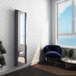 Supreme Anthracite Aluminium Mirror Radiator - 470 x 1700mm