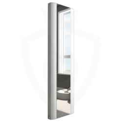 Supreme White Aluminium Mirror Radiator - 470 x 1700mm Double