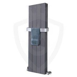 Sovereign Double Anthracite Aluminium Radiator - 375 x 1200mm