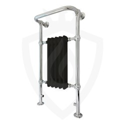 Cartmel Black Floor Standing Traditional Towel Rail - 500 x 952mm