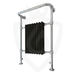 York Black Traditional Towel Rail - 673 x 963mm
