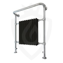 Chester Black Floor Standing Traditional Towel Rail - 735 x 952mm