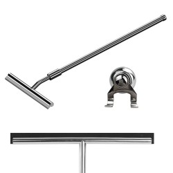 260mm(w) Extendable Stainless Steel Wetroom Shower Glass Squeegee (Design G20) + Suction Hanger