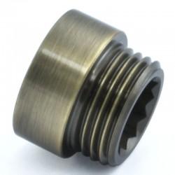 10mm Rigid Radiator Valve Extension 1/2 inch BSP - Antique Brass