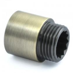 20mm Rigid Radiator Valve Extension 1/2 inch BSP - Antique Brass