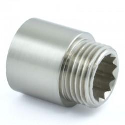 20mm Rigid Radiator Valve Extension 1/2 inch BSP - Statin Nickel