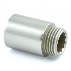 30mm Rigid Radiator Valve Extension 1/2 inch BSP - Satin Nickel