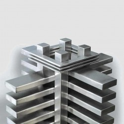 AEON Radiators - Truva Brushed Stainless Steel Radiators