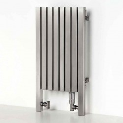 AEON Radiators - Arat Floor Standing Brushed Stainless Steel Radiators