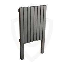 AEON Radiators - Kare Floor Standing Brushed Stainless Steel Radiators - KRL876